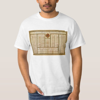 State of the Royal Navy of France 1785 Chart T-shirts
