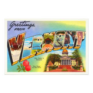 State of Vermont VT Old Vintage Travel Souvenir Photograph