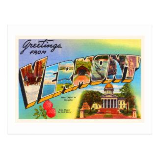 State of Vermont VT Old Vintage Travel Souvenir Postcard