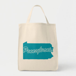 State Pennsylvania Grocery Tote Bag
