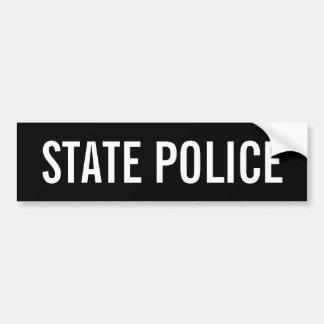STATE POLICE - White Logo Emblem Bumper Sticker