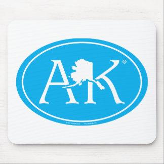 State Pride Euro: AK Alaska Mouse Pad
