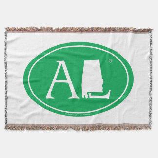 State Pride Euro: AL Alabama Throw Blanket