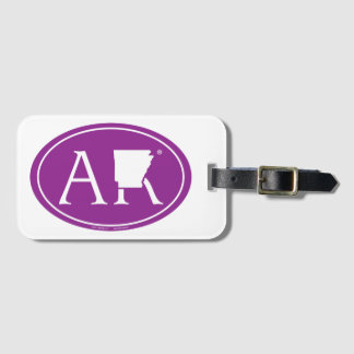 State Pride Euro: AR Arkansas Luggage Tag