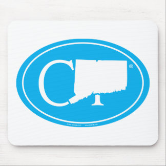 State Pride Euro: CT Connecticut Mouse Pad