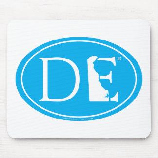 State Pride Euro: DE Delaware Mouse Pad