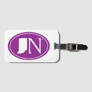 State Pride Euro: IN Indiana Luggage Tag