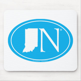 State Pride Euro: IN Indiana Mouse Pad