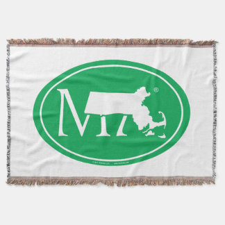 State Pride Euro: MA Massachusetts Throw Blanket
