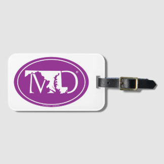 State Pride Euro: MD Maryland Luggage Tag