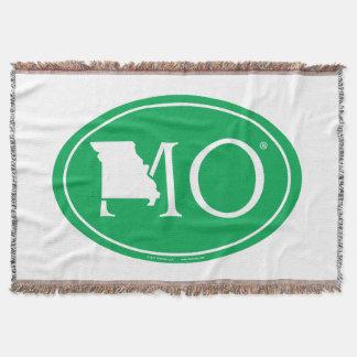State Pride Euro: MO Missouri Throw Blanket
