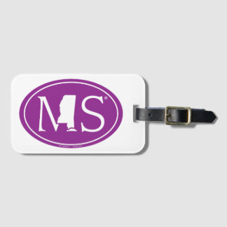 State Pride Euro: MS Mississippi Luggage Tag