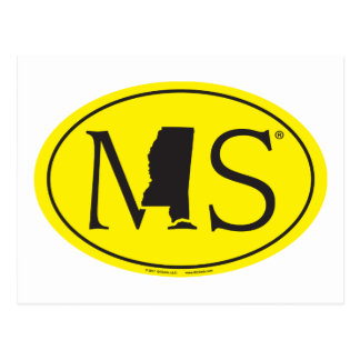 State Pride Euro: MS Mississippi Postcard