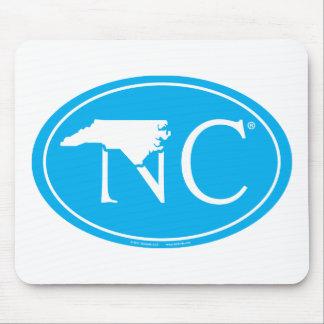 State Pride Euro: NC North Carolina Mouse Pad