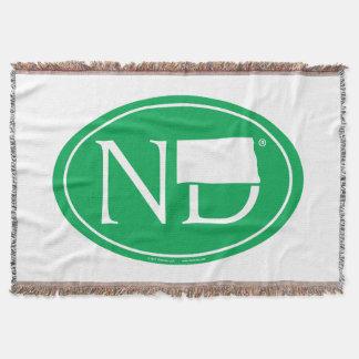 State Pride Euro: ND North Dakota Throw Blanket