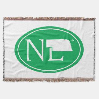 State Pride Euro: NE Nebraska Throw Blanket