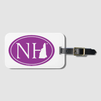 State Pride Euro: NH New Hampshire Luggage Tag