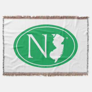 State Pride Euro: NJ New Jersey Throw Blanket