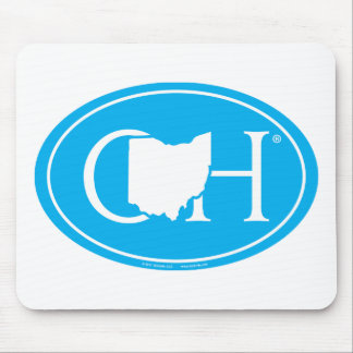 State Pride Euro: OH Ohio Mouse Pad