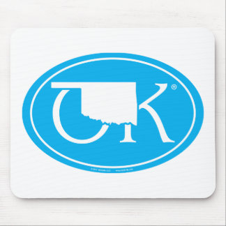 State Pride Euro: OK Oklahoma Mouse Pad