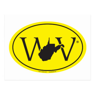 State Pride Euro: WV West Virginia Postcard