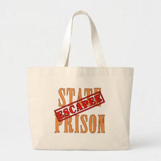 State Prison Escapee Halloween Humor Jumbo Tote Bag
