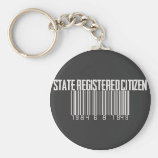 State Registered Citizen Basic Round Button Key Ring