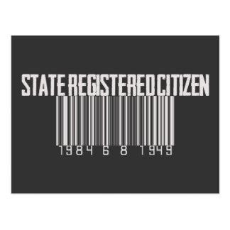 State Registered Citizen Postcard