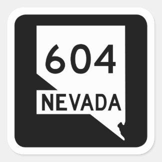 State Route 604, Nevada, USA Square Sticker