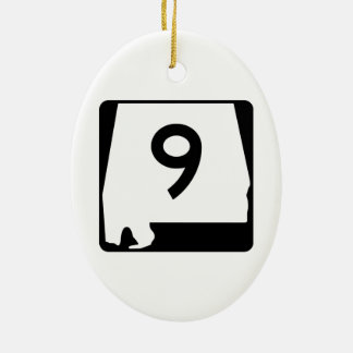 State Route 9 Alabama USA Christmas Ornaments