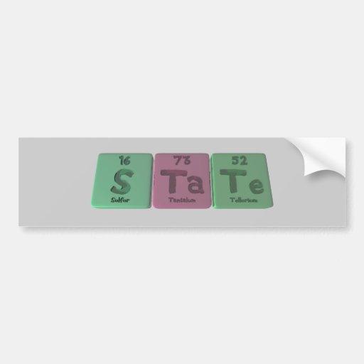 State-S-Ta-Te-Sulfur-Tantalum-Tellurium.png Bumper Sticker