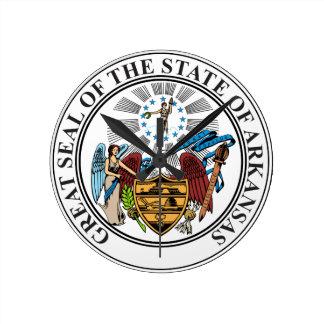 State Seal of Arkansas Wall Clock