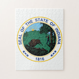 State Seal of Indiana. Jigsaw Puzzle