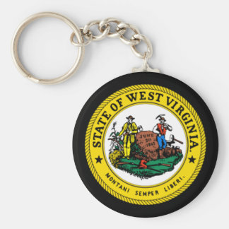 State seal of West Virginia Key Ring