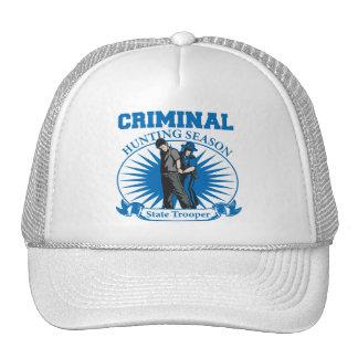 State Trooper Criminal Hunting Season Mesh Hat