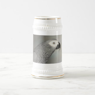 Stately African Grey Parrot Beer Steins