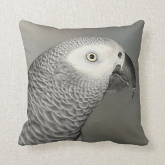 Stately African Grey Parrot Pillow