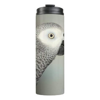 Stately African Grey Parrot Thermal Tumbler