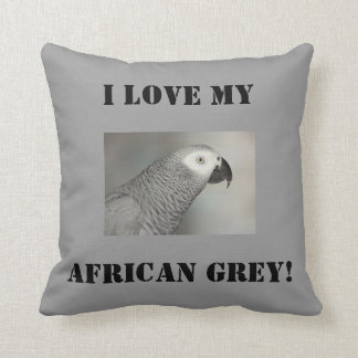 Stately African Grey Parrot Throw Cushion