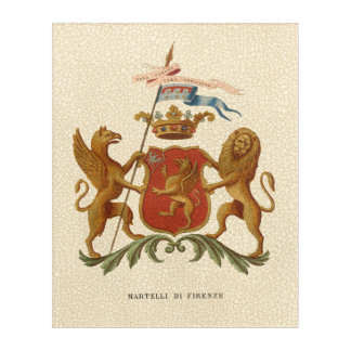 Stately Heraldic Badge with Griffin and Lion Acrylic Print