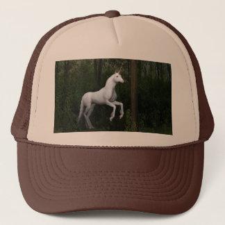 Stately White Unicorn Trucker Hat