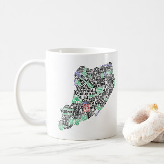 Staten Island NY Typographic Map Mug
