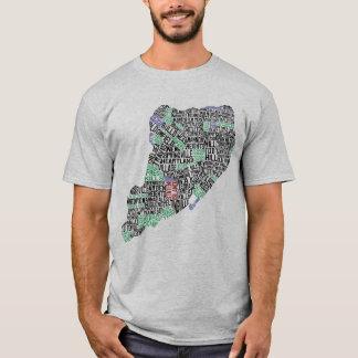 Staten Island NY Typography Map Tee Shirt