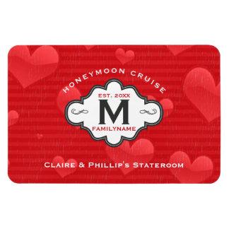 Stateroom Door Marker Honeymoon Cruise Red Hearts Magnet