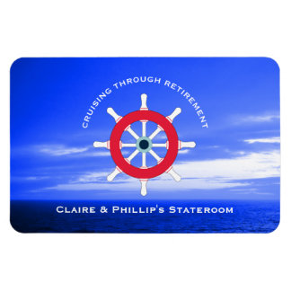 Stateroom Door Marker Personalized Retirement Magnet