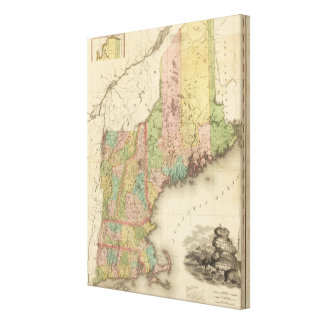 States of Maine, New Hampshire, Vermont Gallery Wrapped Canvas