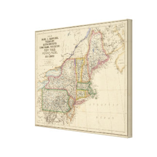States of Maine, New Hampshire, Vermont Canvas Print