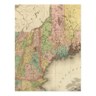 States of Maine, New Hampshire, Vermont Postcard