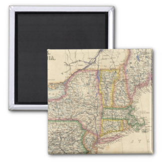 States of Maine, New Hampshire, Vermont Square Magnet