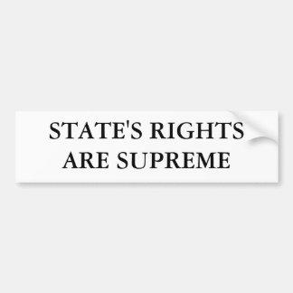 STATE'S RIGHTS ARE SUPREME BUMPER STICKER